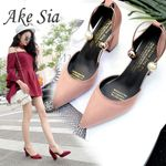 word buckle single sexy comfortable wild suede pointed high heels