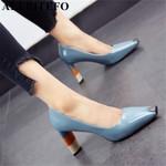 metal square toe wedding  fashion high heel