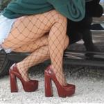Ankle Strap  Round Toe Platform Chunky High Heels