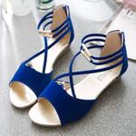 fashionable comfortable strap round head sandals