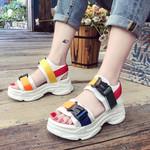 Casual Genuine Leather Fashion Casual Peep Toe Sandals