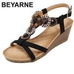 Casual Beading Fashion Wedges Sandals