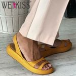 Platform Pu Slingback Fashion Casual Sandals