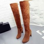 Faux Suede Leather Over The Knee boots