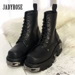 High Tops Military Metal Punk Style Ankle Boots
