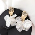 Statement Trendy Jewelry Flower Petal Drop Earrings