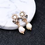 Wedding Crystal Flower Drop Earring