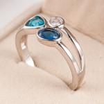 Crystal Rhinestone Fashion Wedding Rings