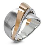 Fashion Crossed Tone Bow Knot Rhinestone Rings