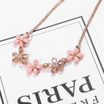 Link Chain Jewelry  Cute Flower Charms Necklace