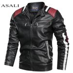Casual Motorcycle Biker Windproof PU Leather Jackets