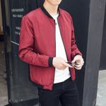 Thin Slim Long Sleeve baseball Bomber Jacket