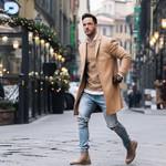 Fashion Elegant Lapel Collar Long Sleeve Long Trench Coats