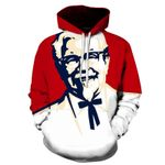 hip hop long-sleeved pullover Fashionable print 3D hoodie