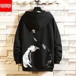 O-neck Casual Pullover Dragon Print Hip Hop Fashion Hoodies