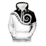 Musical Note 3D Print Piano Fashion Long Sleeve Hoodie
