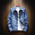 Hip Hop Retro Casual Bomber Fashion Denim Jacket