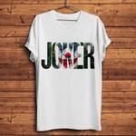 e casual o-neck joker letter print funny t shirt