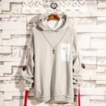 long design loose long-sleeve  hood sweatshirt