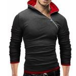 Irregular zipper Stitch Costume Hip Hop Sweatshirt