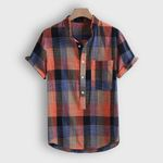 Button Plaid Hawaii Casual Short sleeve shirt