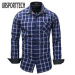 Casual Long Sleeve Slim Fit Striped Breathable Dress Shirt