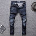 Retro Classical Vintage Slim Ripped Italian Fashion Jeans