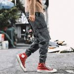 Loose Fit Big Pocket Cargo Fashion Jeans