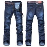 Style Straight Slim Casual Trousers Jeans