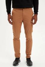 Casual Bottoms Mid-waist Pockets Long Pants