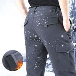 Casual Multi-pockets Thick Tactical Fleece Warm Cargo Pants