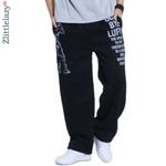 Fashion Letter Printed Baggy Hip Hop Jogger Pants