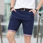 Fashion Cotton Casual Plaid Ruched Hem Short