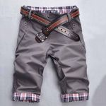 Beach Quick Drying Plaid Patchwork Shorts