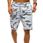 Camouflage Printed Elastic Waist Slim  Casual Shorts
