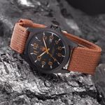 Fabric Canvas Strap Casual Military Quartz Watches