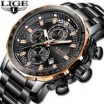 Luxury Full Steel Quartz Waterproof Sport Chronograph Watches