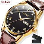 Leather Quartz Waterproof Business Fashion Wrist Watch