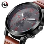 Fashion Leather  Luxury Waterproof Sports Military Watch