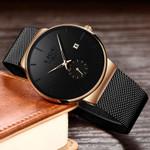 Luxury Ultra-thin Waterproof Hombre Mesh Steel Watches