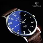 Casual Business Leather Strap Classic Quartz Watch
