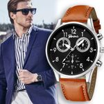 Leather Military Ultra Thin Casual Analog Fashion Watch