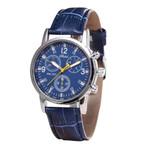 Casual glass neutral quartz wrist Leather Strap Watch