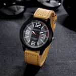 Retro Luxury Stainless steel Leather Analog Quartz Watches