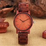 Wrist Quartz Simple Casual Wood Watch
