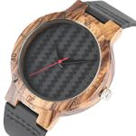 Fashion Weave Design Bamboo Quartz Wooden Watch
