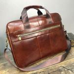 Laptop Shoulder  Cow Genuine Leather Handbag