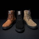 Cow suede Keep warm Vintage  Tooling Boots