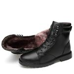 Casual Genuine Leather Warm Ankle Lace-up Waterproof Boot