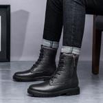 plush warm Luxury Combat  Snow Boots